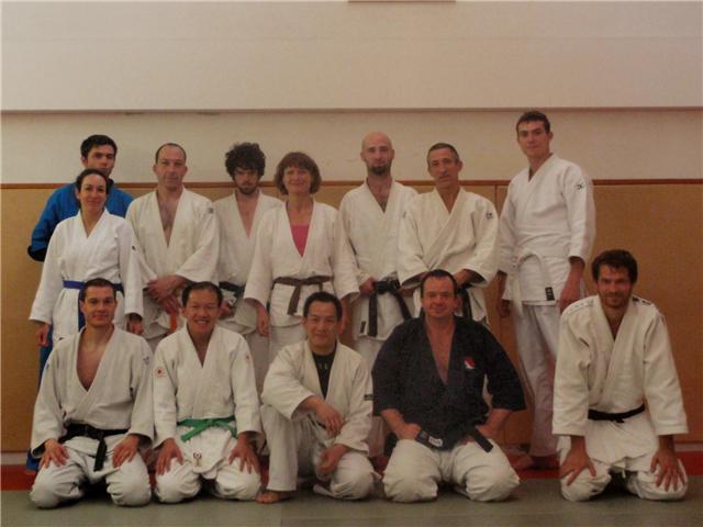 Les participants du stage de jujitsu