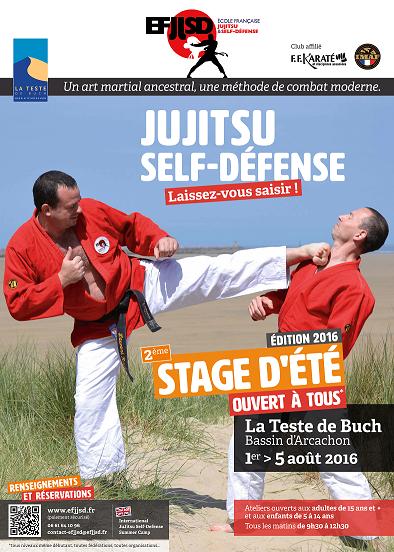 jujitsu stage ete 2016 affiche arcachon efjjsd